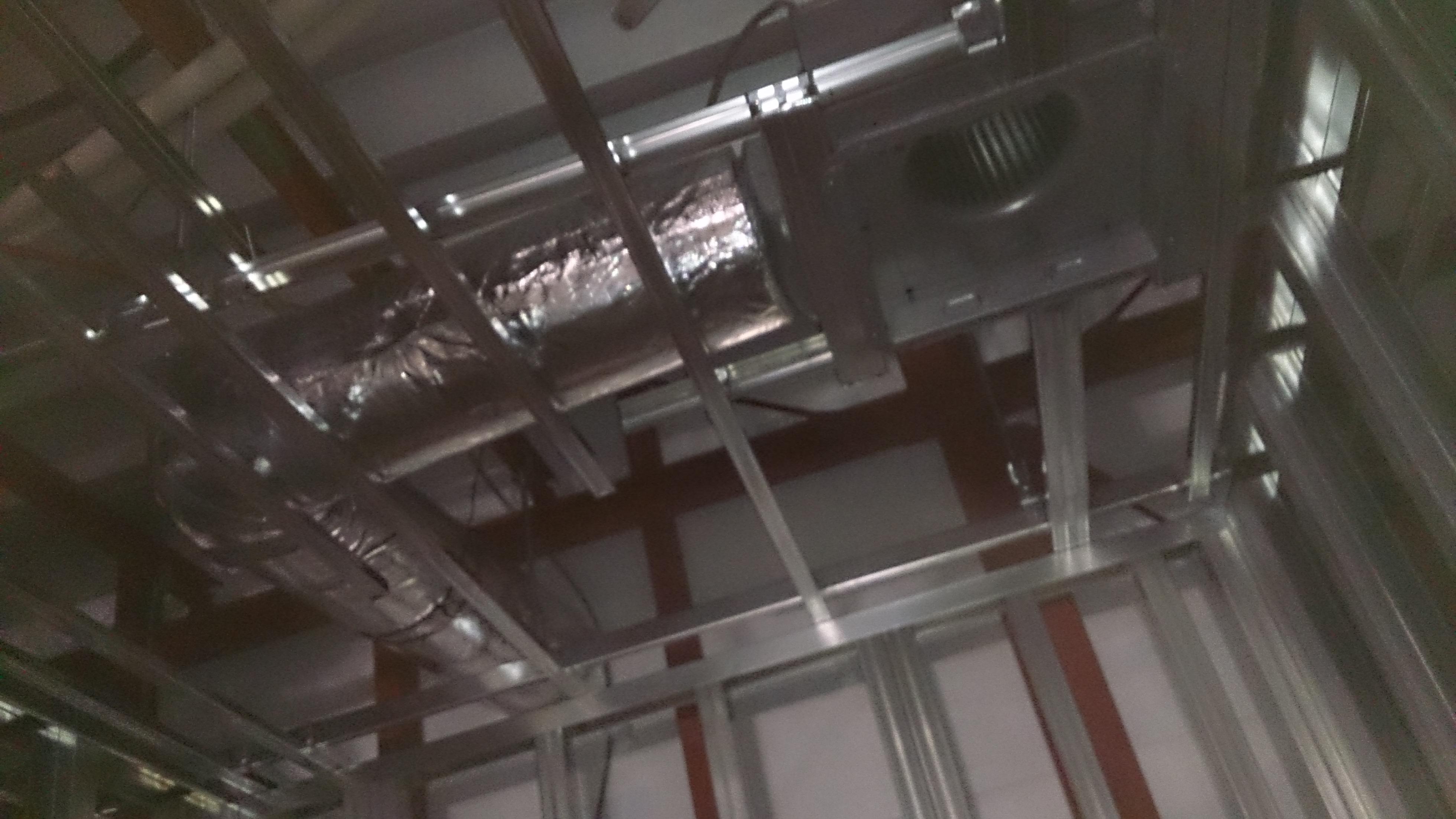天井換気扇取付状況